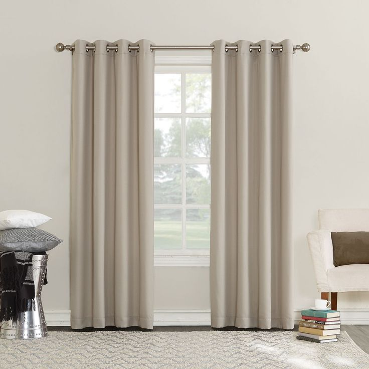 Bring privacy and style to your home by hanging this Sun Zero Emden curtain panel. The triple-lined panel keeps out the cold and heat and promotes energy efficiency. Type: Single Panel Material: Polye