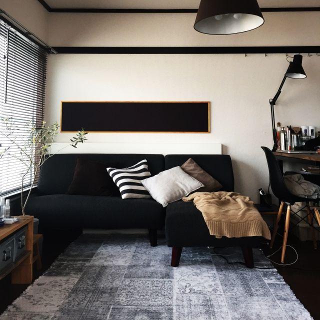 helvetica_さんの、Lounge,観葉植物,無印良品,ナチュラル,IKEA,雑貨,ソファ,ハンドメイド,DIY,一人暮らし,北欧,モノトーン,男前についての部屋写真