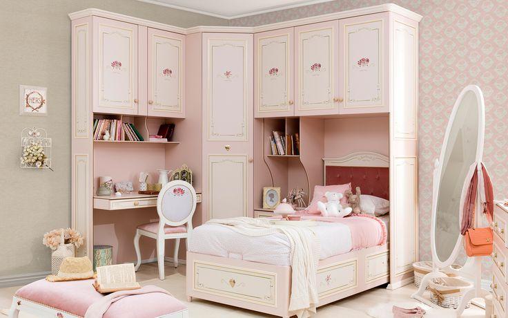 #elegant #decoration #dekorasyon #genc #oda  #beyaz #pembe #pembeoda #beyazoda #klasik #white #pinkroom #whiteroom