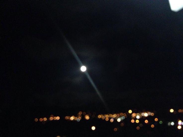 Moon blurred sky