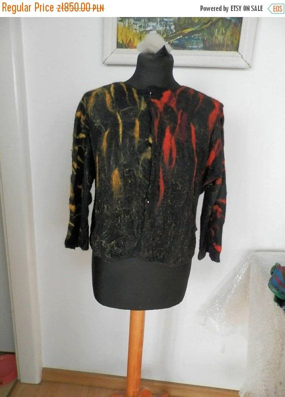 handmade felted jacket with merino and silk by fripperyart on Etsy