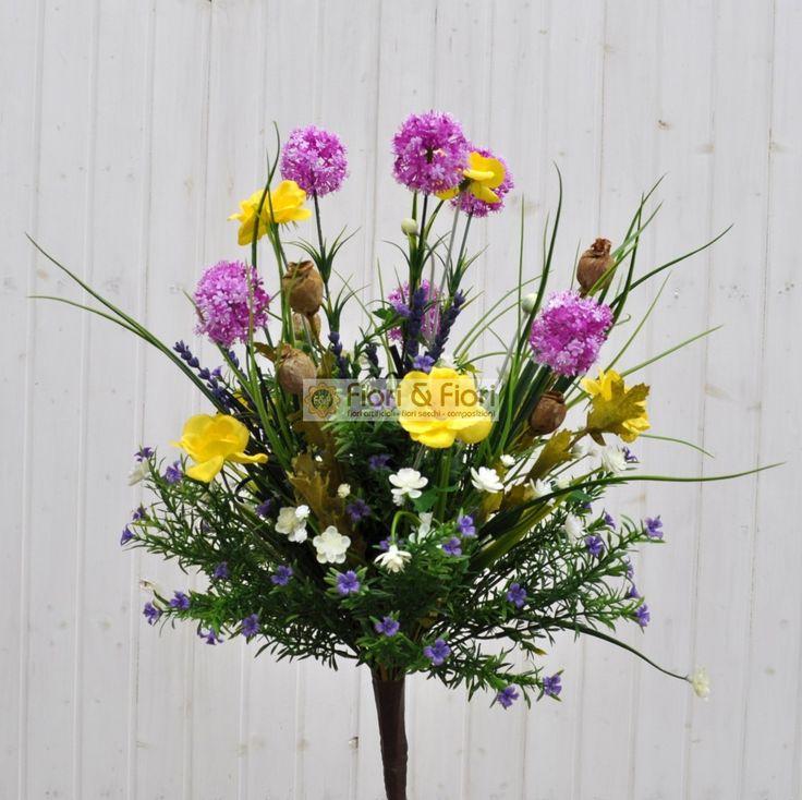 Bouquet fiori artificiali tirolo viola per decorazioni di interni: Fiori & Fiori