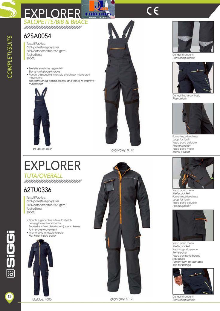 No podían faltar los petos y los buzos Explorer... http://www.rolanuniformes.es/ropa-trabajo-uniformes-industriales/rolan-siggi-professional/
