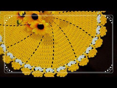 Sousplat em Crochê + Como Aplicar o Fixa Crochê - YouTube