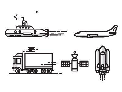 Line illustration - vector   transport