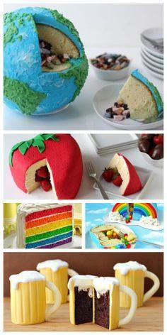 So cute! Best surprise cakes