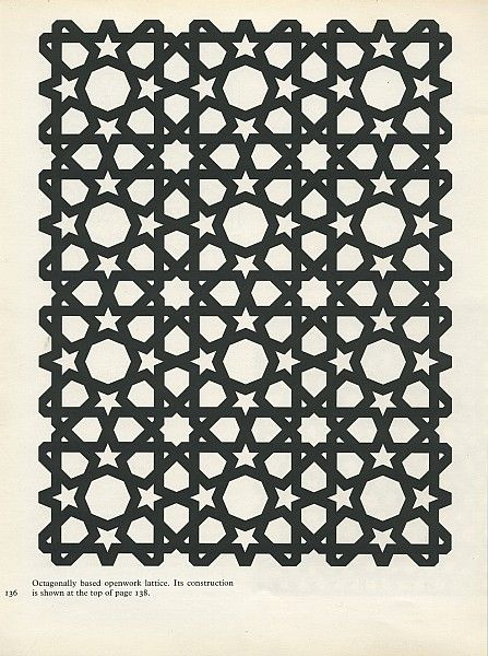 Octagonally based lattice work
