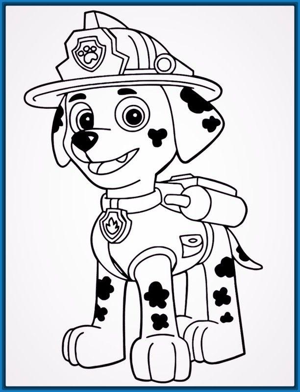 Niños 2 Años   Colorear patrulla canina, Patrulla canina ...