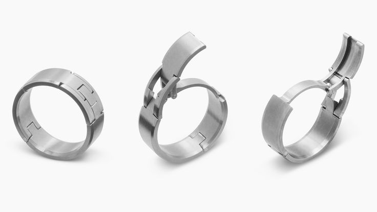 These wedding bands aren't just safer than normal rings, they have a cool trick you can show off to your buddies.