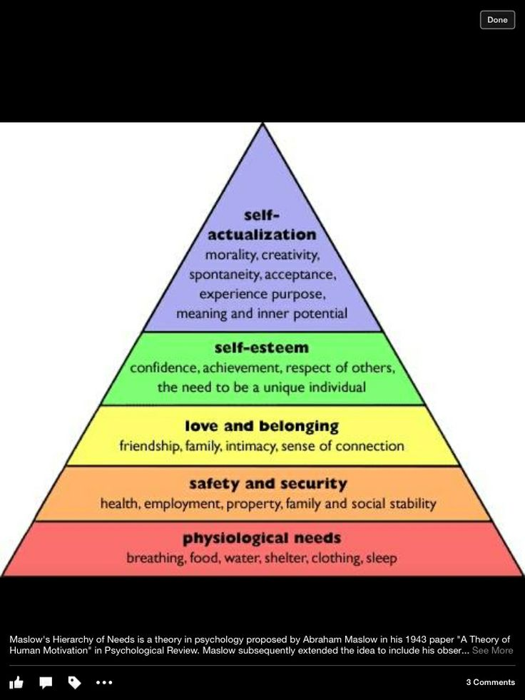 Maslows hierarchy of needs  Spirituality  Maslows hierarchy of needs Psychology Education