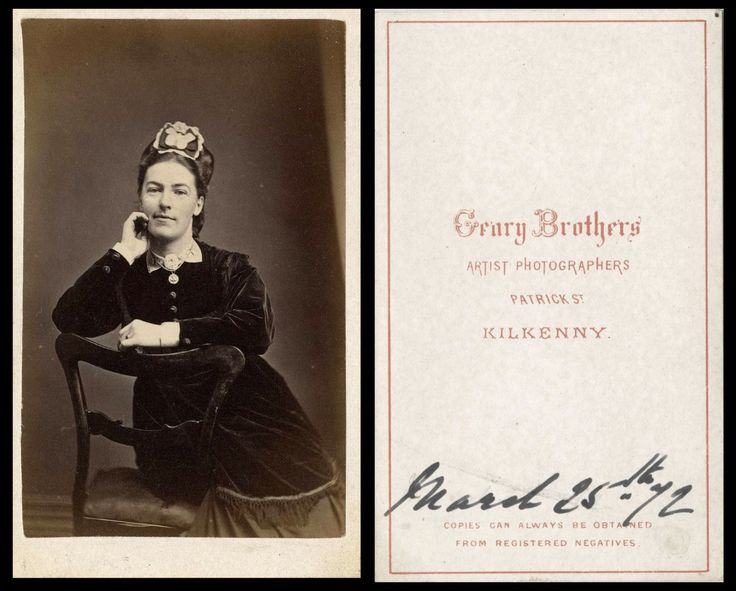 Studio CdV - Genry Brothers, Patrick Street, Kilkenny (un-named lady) 25-March-1872
