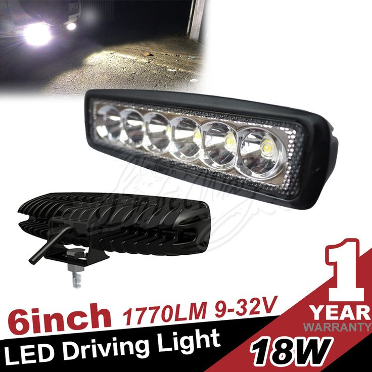 6inch 18w Led Work Light For Truck 4x4 Offroad SUV 4WD ATV