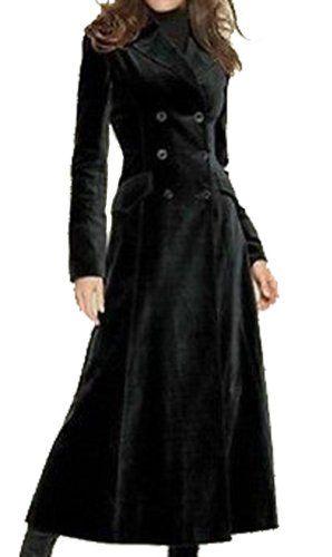 Women's Black Double Breasted Wool Blend Overcoat Slim Fit Long Coat Fengbay http://www.amazon.com/dp/B00S7Q0FZO/ref=cm_sw_r_pi_dp_SXvYvb03WTR6A