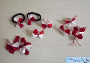 Вариации на пеперудени мартенички-пръстен,фибичка или ластик за коса  Цена: 2 лв/бр.