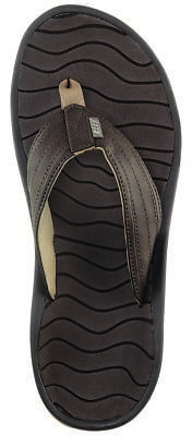 Reef Swellular Cushion Lux Flip Flop - Men's Brown/Gum 7.0