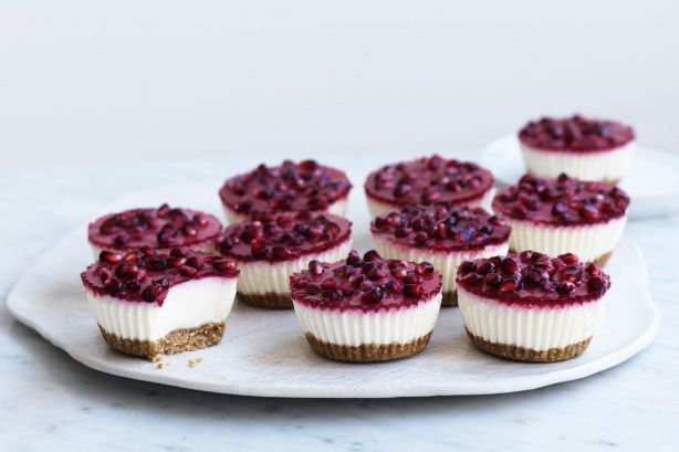 These little cheesecakes made with yoghurt and cream cheese are garnished with passionfruit for an extra pop of flavour.