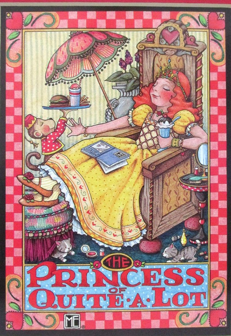 "Mary Engelbreit ""Princess of Quite-A-Lot) Matted Art Print"