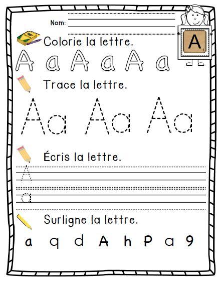 French Alphabet activity book/ Cahier d'apprentissage de l'alphabet