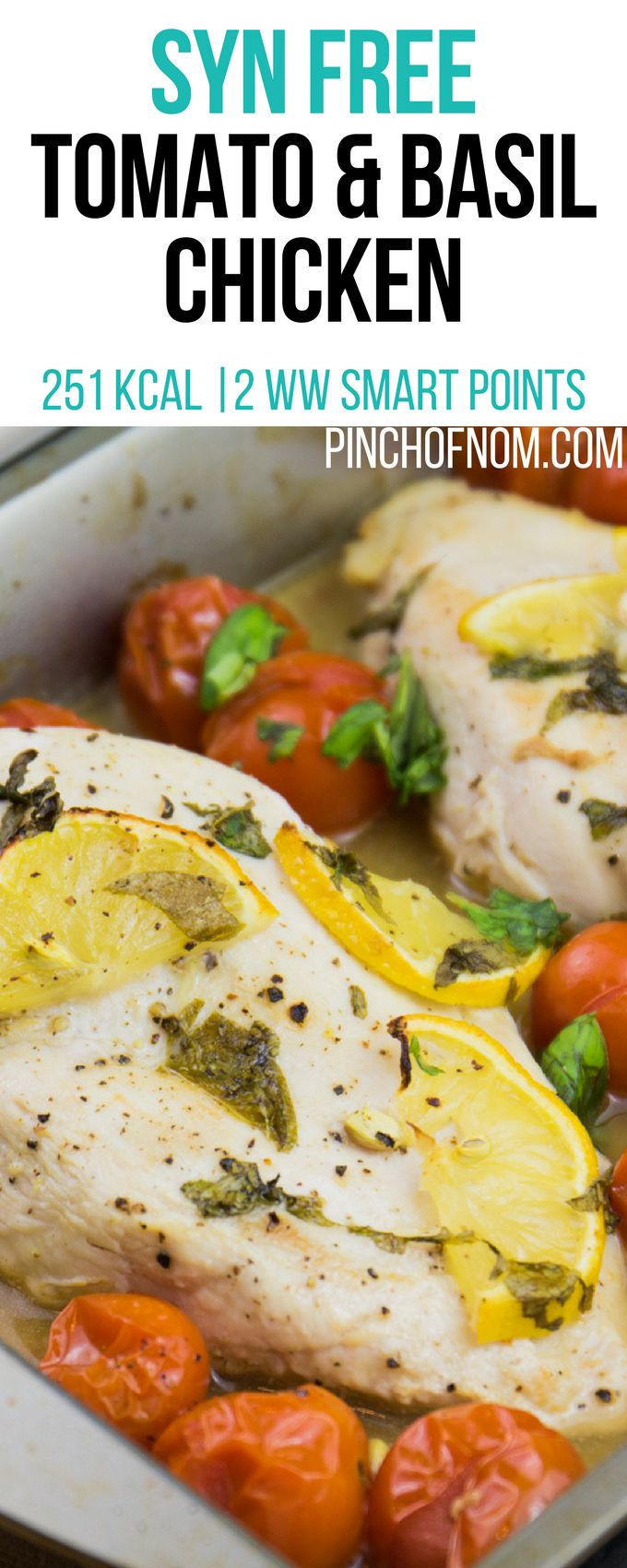Syn Free Tomato and Basil Chicken | Pinch Of Nom Slimming World Recipes 251 kcal | Syn Free | 2 Weight Watchers Smart Points