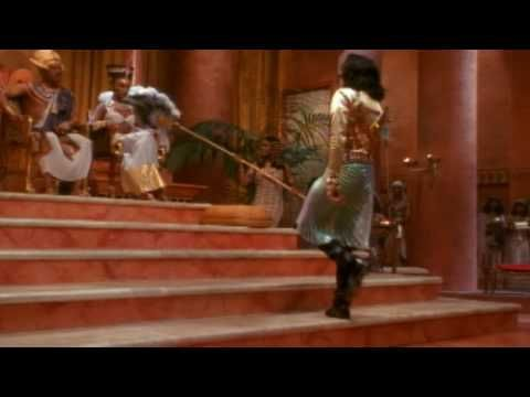 Michael Jackson - Remember The Time. One of Michael Jackson's more interesting videos. Even had Eddie Murphy and I believe Iman in it. Egyptian themed. I love the way Eddie Murphy gives the evil eye to the queen for just a moment.