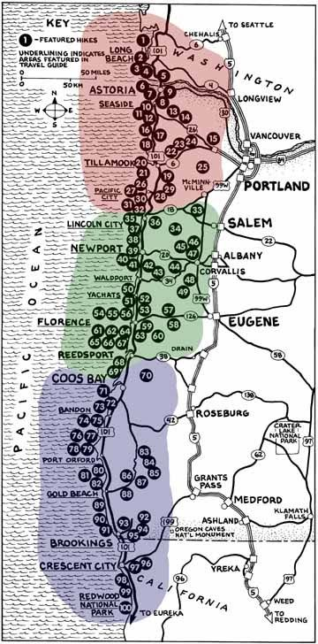 Hikes on the Oregon Coast. This will come in handy since me and Hubby love to hike so much
