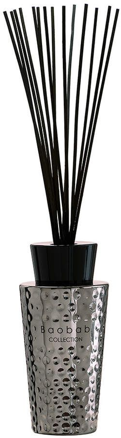 Baobab Collection - Electrum Reed Diffuser - Myerinos. Immerse your home with the decadent scents of Ancient Egypt with this Mykerinos Dark Electrum diffuser from Baobab. Encased in dark silver coloured stainless steel coated glass, this diffuser features a hand-hammered dot design and the soft, feminine scents of acacia & myrrh.  #diffuser#ad#decor