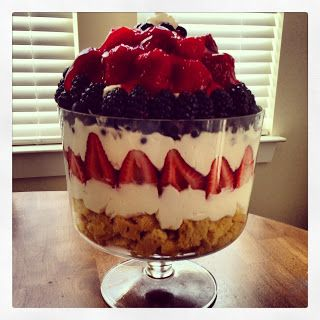 Trifle 4th Forth of July Dessert 2013, pin and read laters