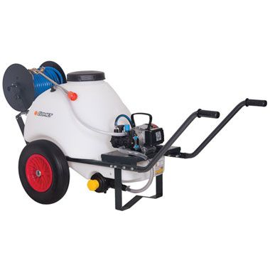 Comet 120 Ltr Wheelbarrow Sprayer 10.7 Ltrs Min 230 Volt Electric Pump