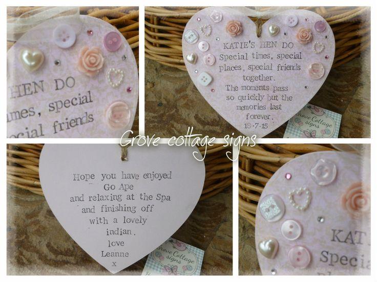 Hen do bespoke gift #handmade #grovecottage #hernebay #wedding #hendo #heart #gifts #personalised