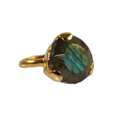 LABRADORITE & GOLD RING | Buy So Pretty Jewelry online