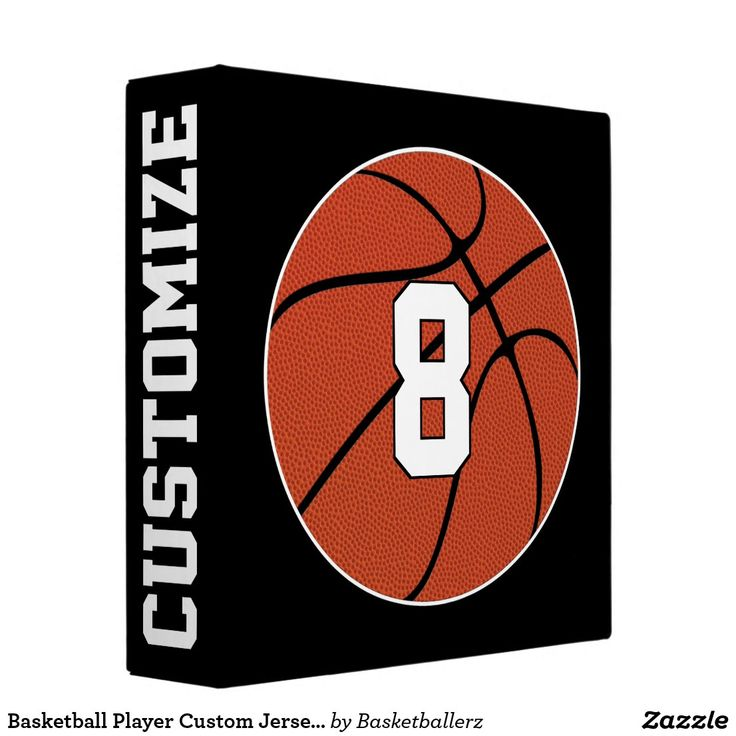 Basketball Player Custom Jersey Number & Team Name 3 Ring