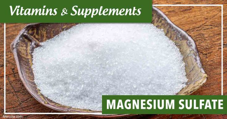 Learn more about magnesium sulfate, its benefits, uses and side effects before you consider taking this supplement. https://articles.mercola.com/vitamins-supplements/magnesium-sulfate.aspx