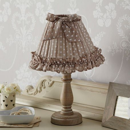 Midi Lamp - Beige Hearts with Bow