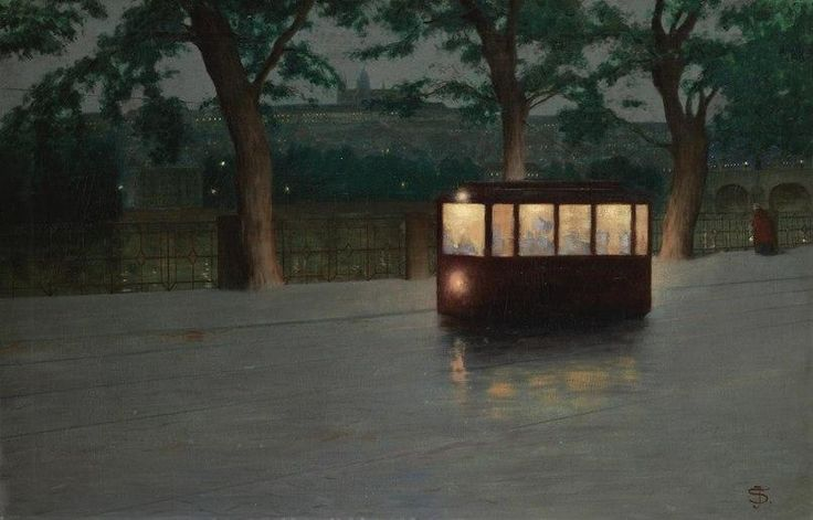 Tramway in Prague, Jakub Schikaneder (1855— 1924)
