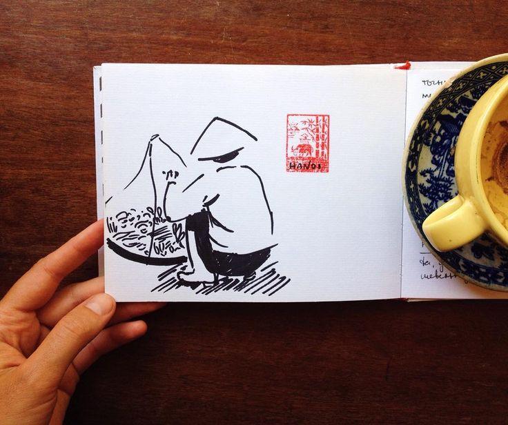 In Hanoi #drawing #sketching #vietnamese