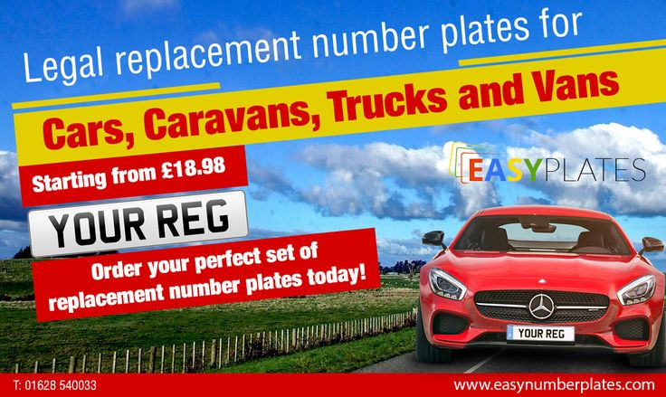 Order #Legal #replacement #number #plates for #cars, #Caravans, #Trucks and #Vans.