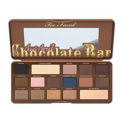 Original Too Faced Chocolate Bar BON BONS Semi Sweet Peach Eyeshadow Palette UK