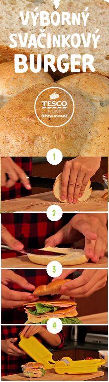 Připravte si výborný svačinkový burger podle našeho videoreceptu!
