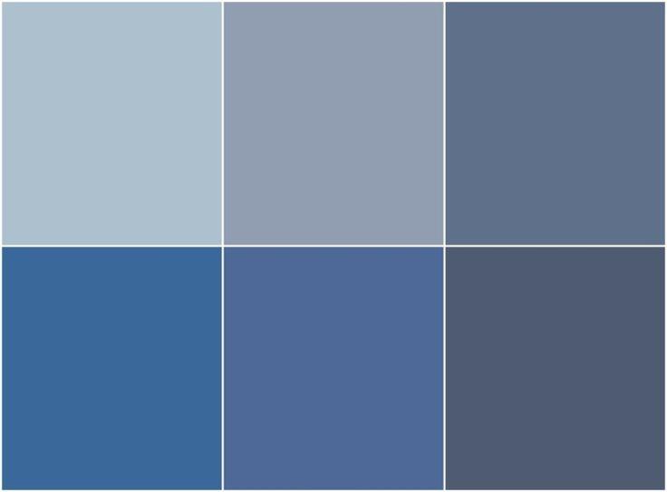 Peinture bleu gris l int rieur le bleu pigeon et le for Les differents gris en peinture