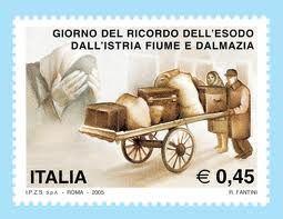 Giorno del ricordo dell'esodo dall'Istria, Fiume e Dalmazia. Francobollo commemorativo