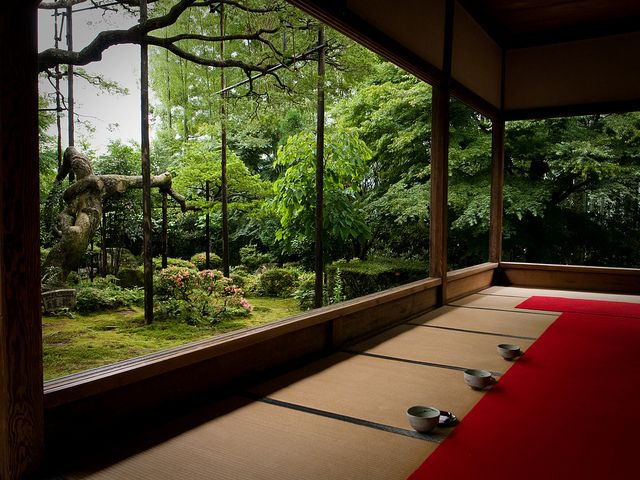 setting after the rain (Housen-in temple, Kyoto)