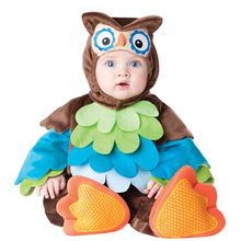 Baby halloween outfit Owl romper photo props Christmas costume toddler hoodies clothing for babies(China (Mainland))