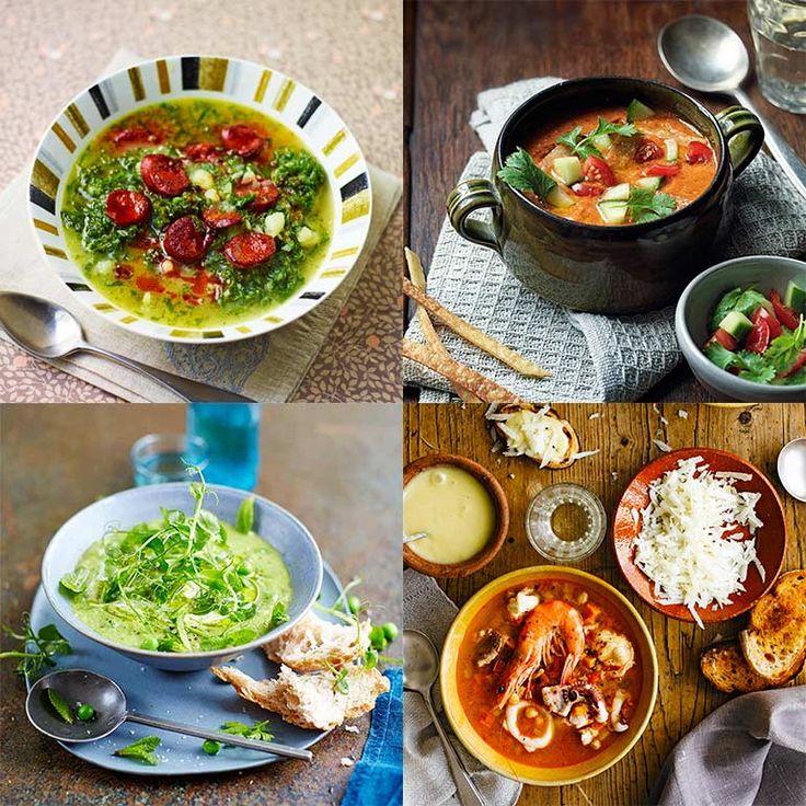 Van traditionele gazpacho tot kom romige kippensoep: wijhebben de lekkerste Spaanse soepen voor je op een rij gezet!