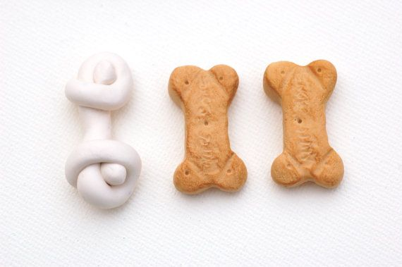 Precious treats for Meatloaf or any other AG pups! Doll Food Two Dog Biscuits One Rawhide Bone  by MiniareMiniatures, $5.95
