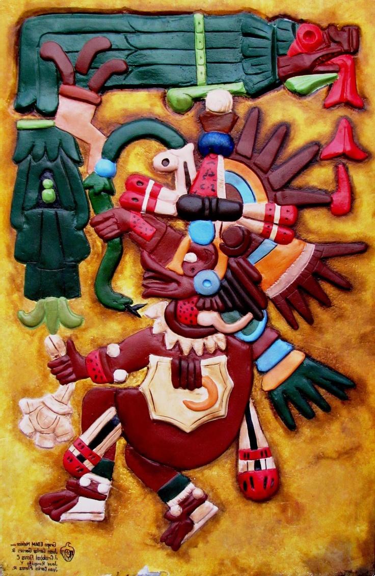 Mural de la serie dioses precuauht micos de peque o for Mural quetzalcoatl
