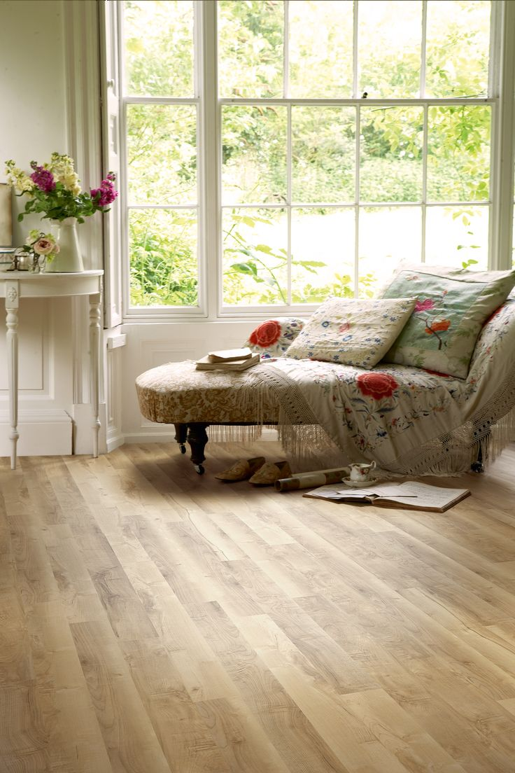 Our Ambrosia Maple floor makes this lounge area look calm and inviting