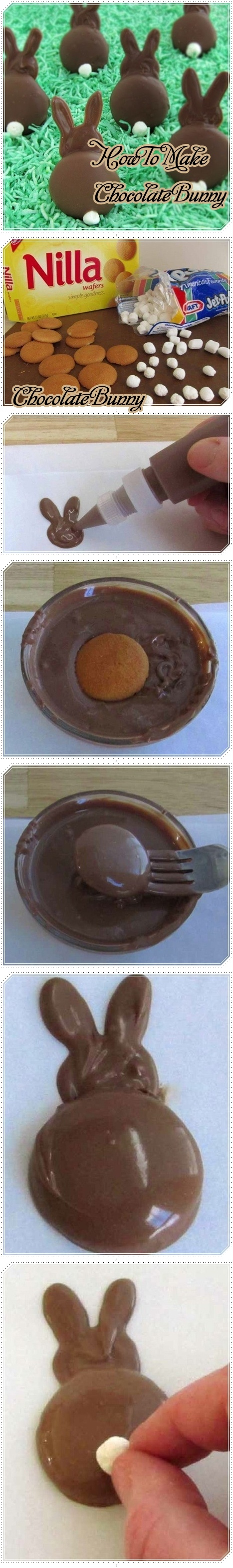 How to Make ---> Chocolate Bunny I just want to not eat them to cute :) ♥