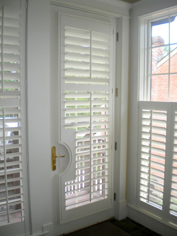 Plantation Shutters can also be put on doors