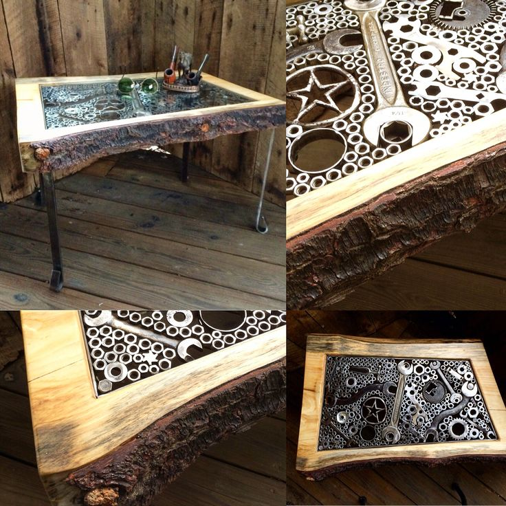 Live Edge Coffee Table The Star Comes From A Vintage