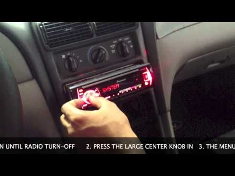 How To Set Clock on Pioneer Car Radio - YouTube
